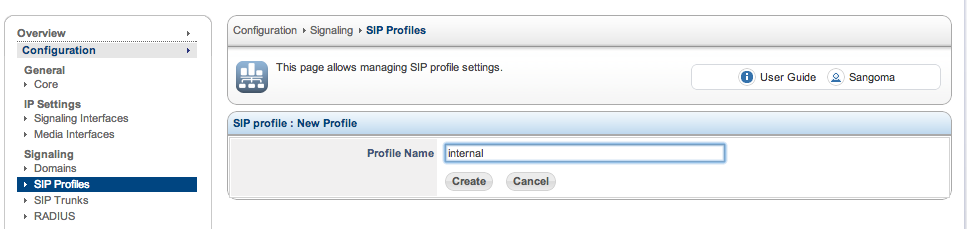 how to create sip server