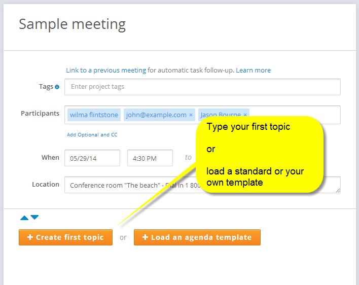 Meeting agenda - MeetingKing - 2