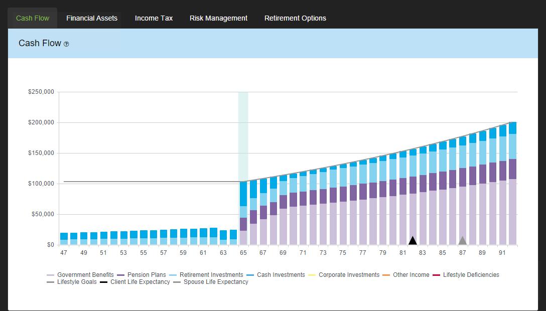 Cash Flow Chart - RazorPlan User Guide - 1