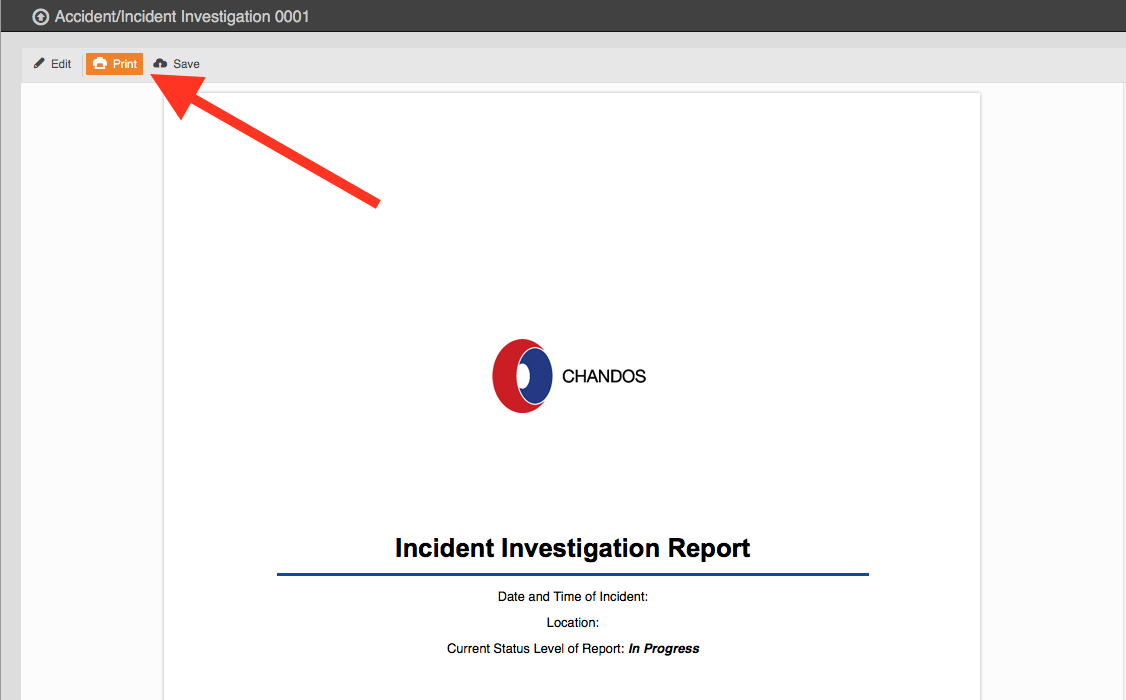 From The Layout, Click The Print Button To Either Print The Report Or Save  It As A Pdf