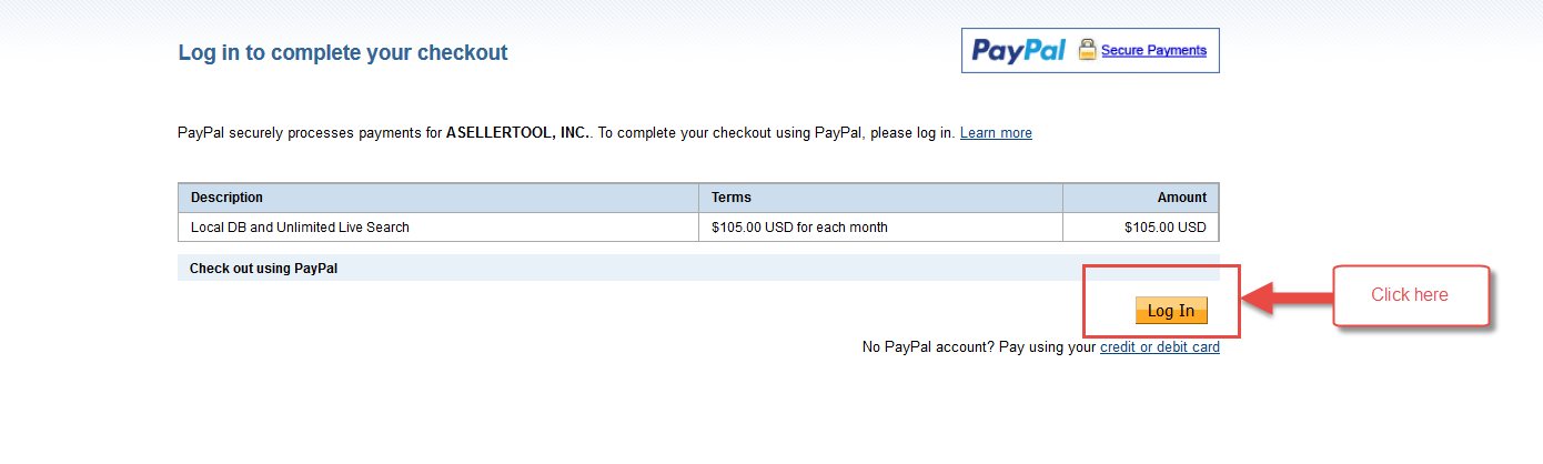 You Will Need To Login To Your PayPal Account And Click Agree And Pay To  Finish.