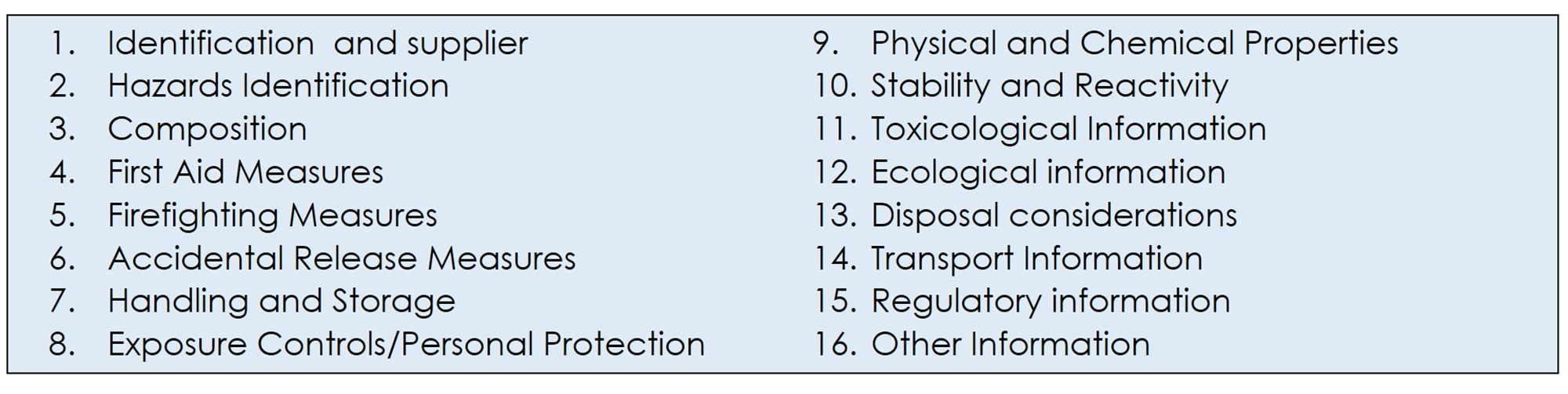 Safety Data Sheets (SDS) - Chemicals Management Guide ...