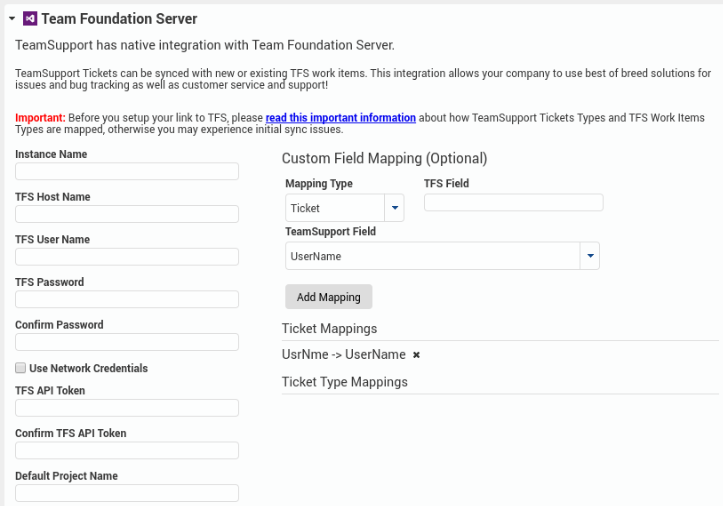 Team Foundation Server (TFS) - Customer Support Software