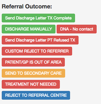 Rejecting a patient you have accidentally accepted - PReSS