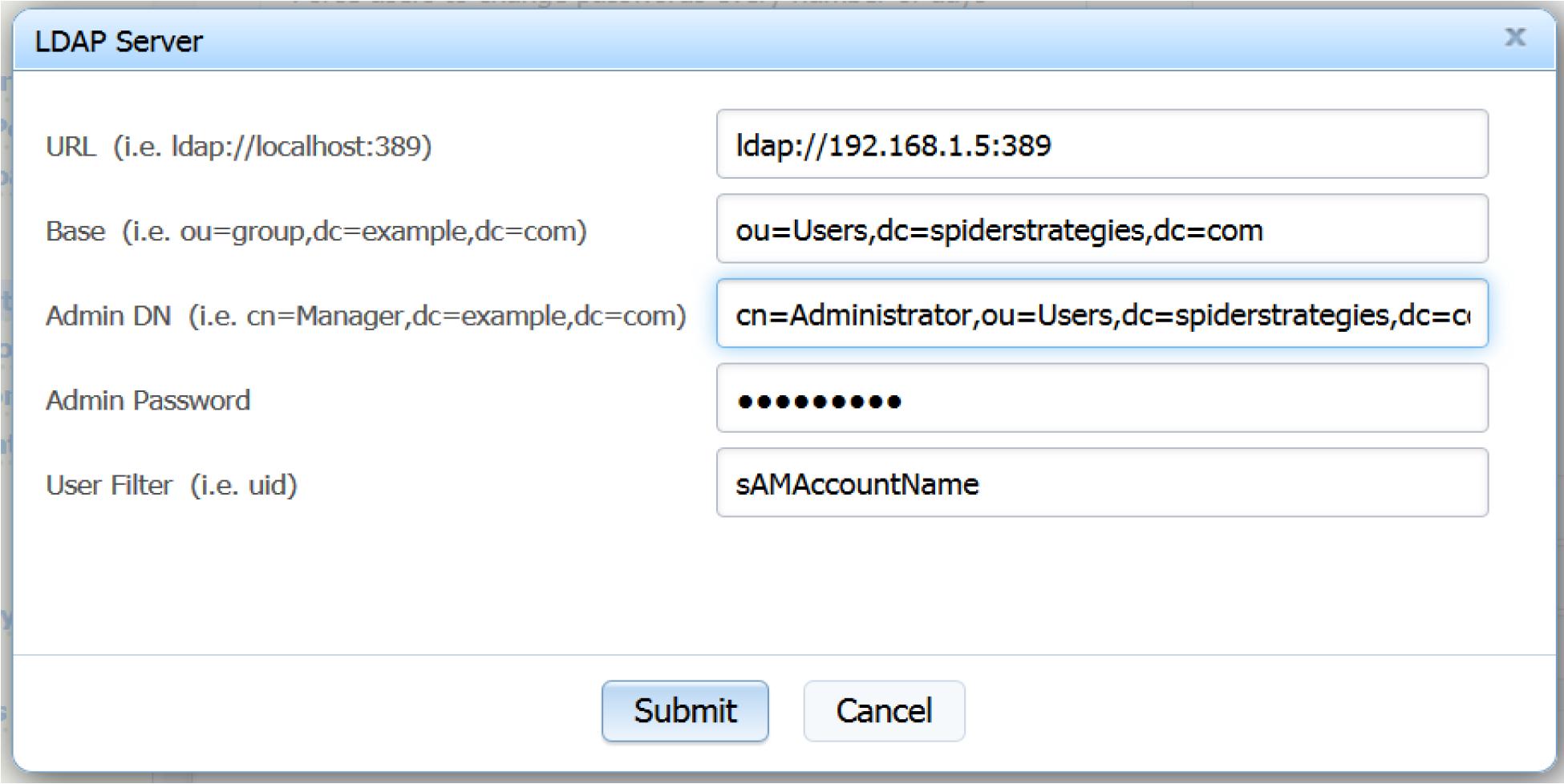 LDAP Authentication - - 1