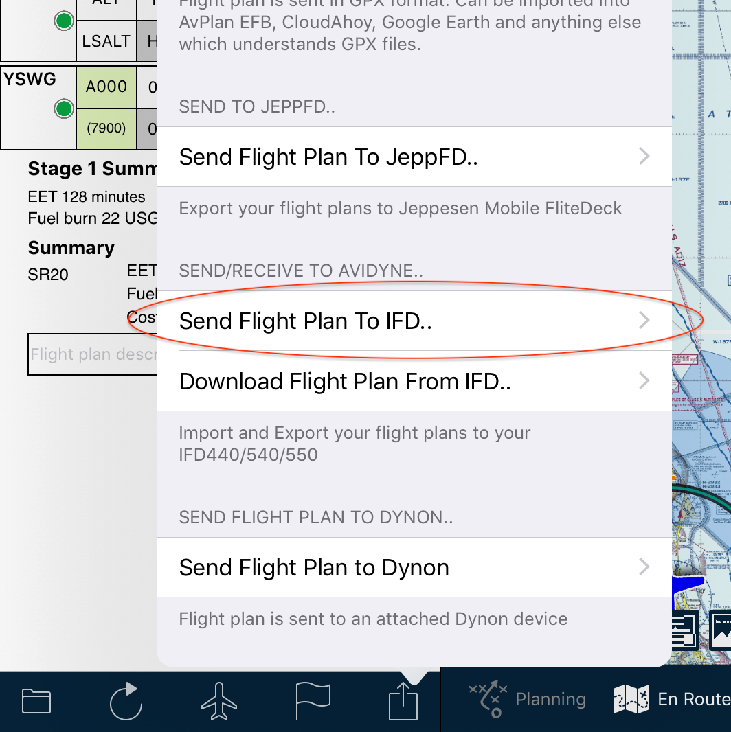 Sending Flight Plan to Avidyne IFD-Series Avionics - User
