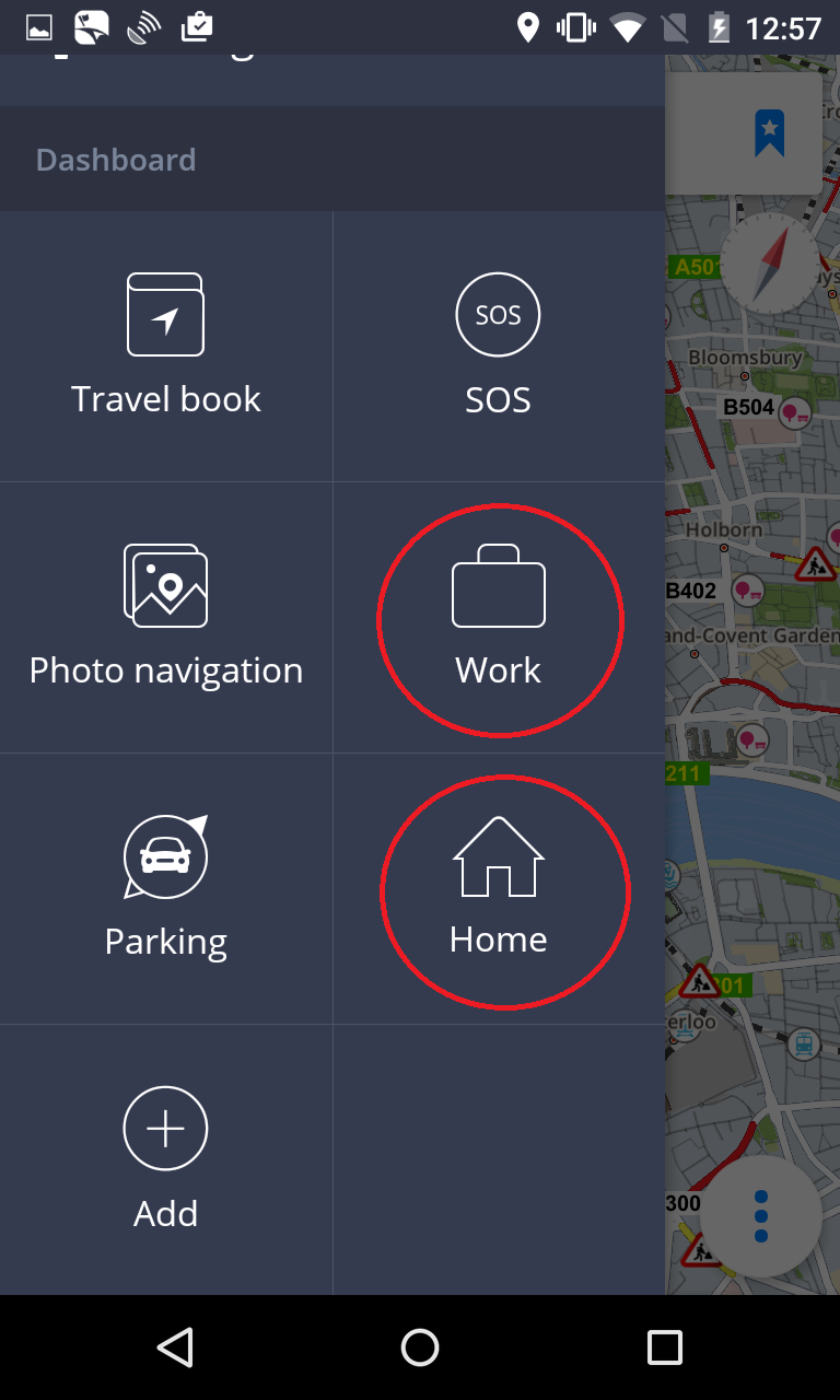 Navigating Home/ to Work - Sygic GPS Navigation for Android