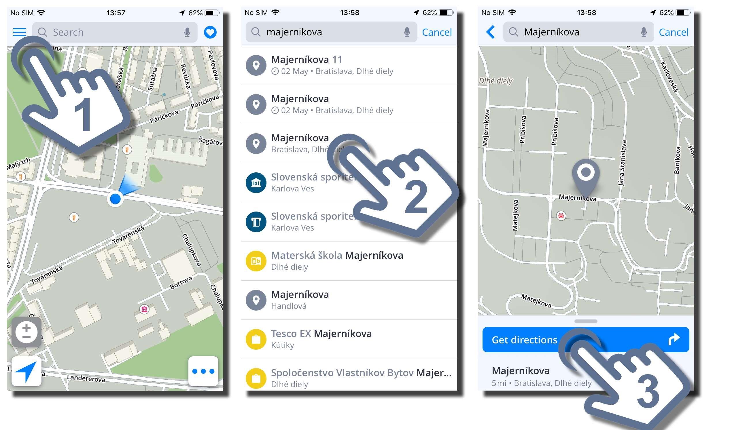 Navigating to an address - Sygic GPS Navigation for iOS - 18.1 on address home, address email, address locator, address search, address numbers, address letter, address art,