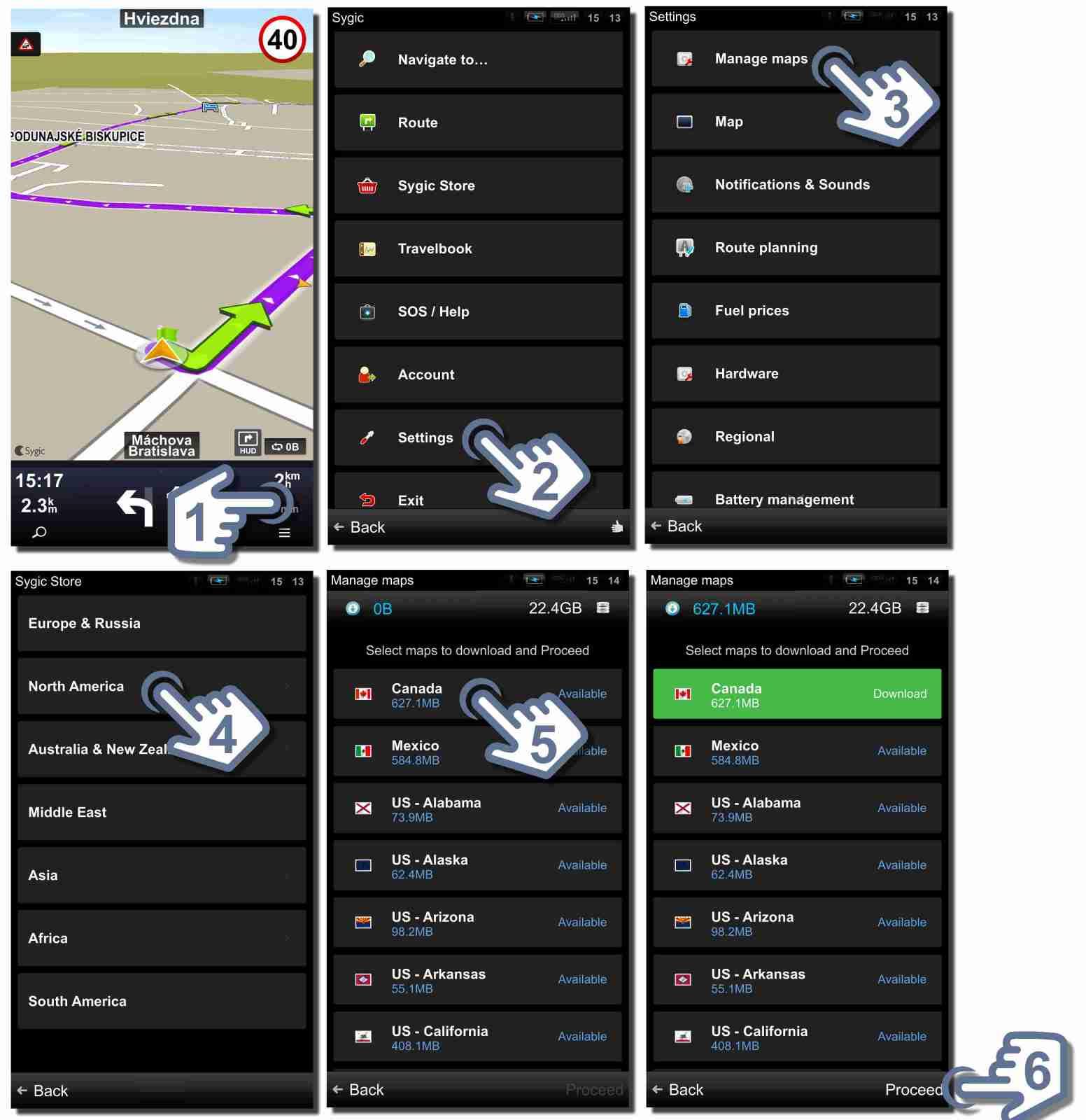 maps sygic car navigation 1. Black Bedroom Furniture Sets. Home Design Ideas