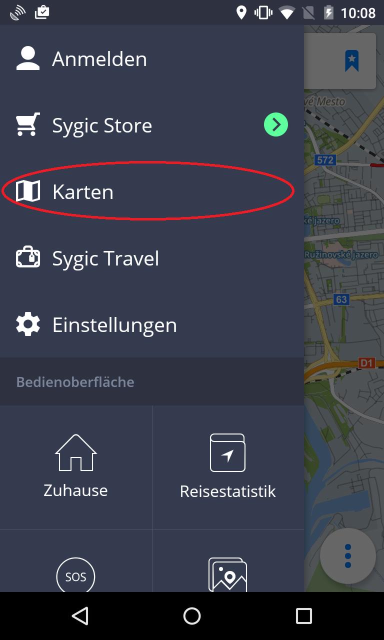 Karten verwalten - Sygic GPS Navigation for Android - 16.4.