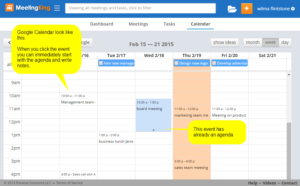 Connecting google calendar to meetingking pro meetingking 2 from meetingking to google calendar pronofoot35fo Gallery
