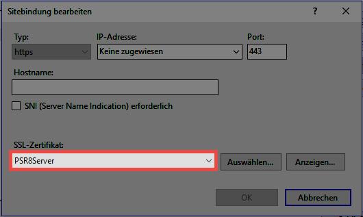 Installation WebClient - Password Safe V8 - 8.3.0