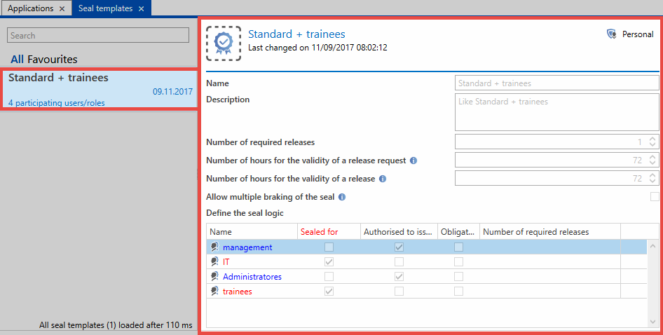 seal templates password safe v8 8 6 0