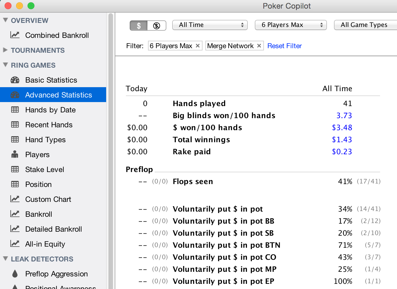Statistics poker