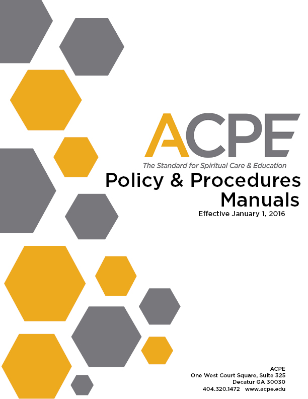 Cover Page Acpe Policy And Procedures 1