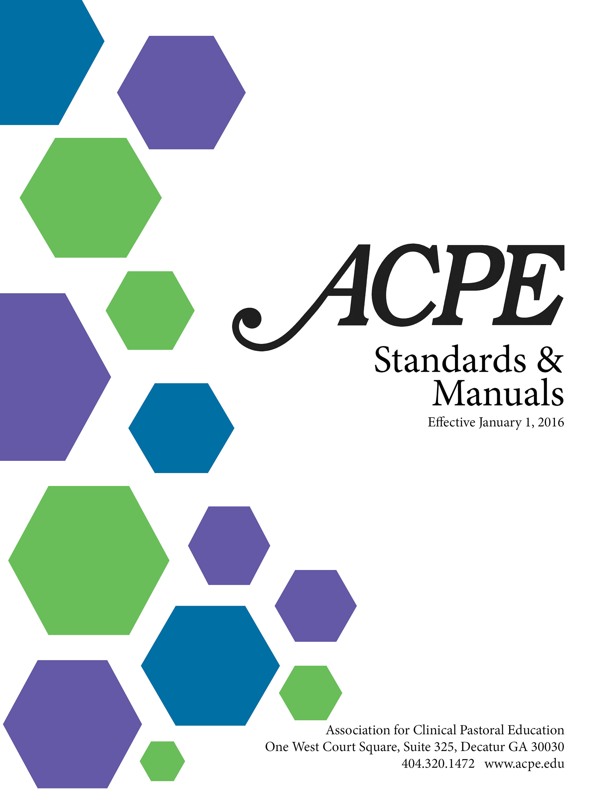 Cover Page ACPE Manuals 9152015 – Training Manual Cover Page