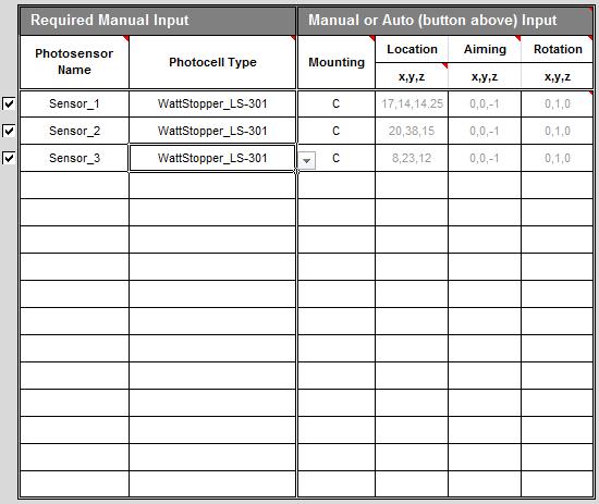 8 1 photosensor definition table - spot pro v 5