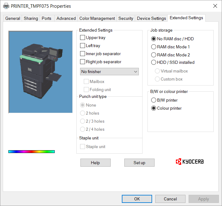 How to setup kyocera printer to scan to computer