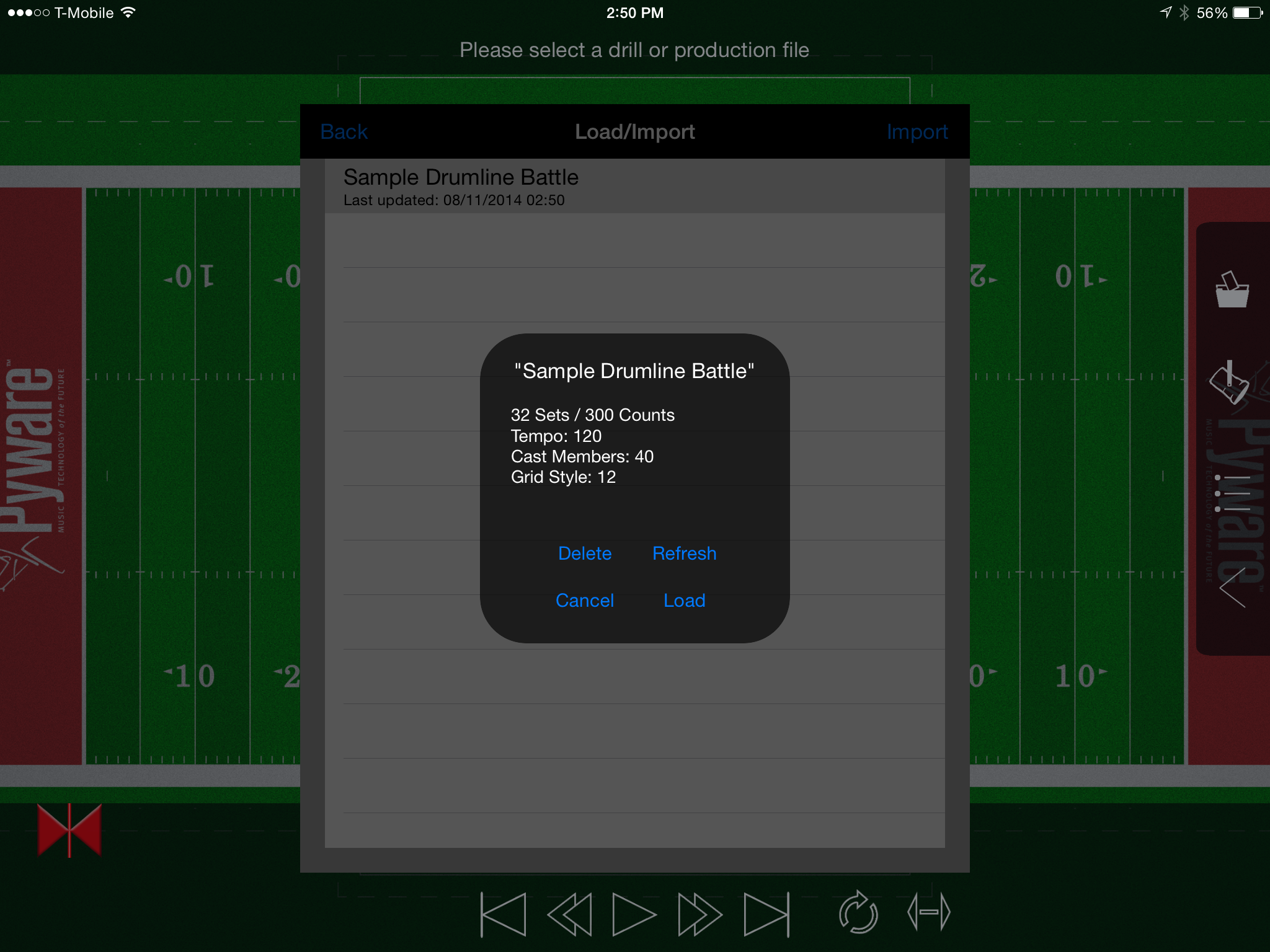 View Drills on iOS - Pyware 3D User Guide - 8 0