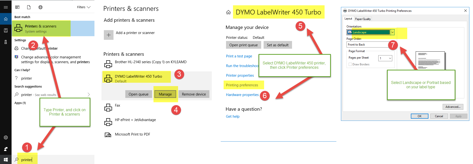 Configure Dymo 450 - ASellerTool Solutions User Guide - 1