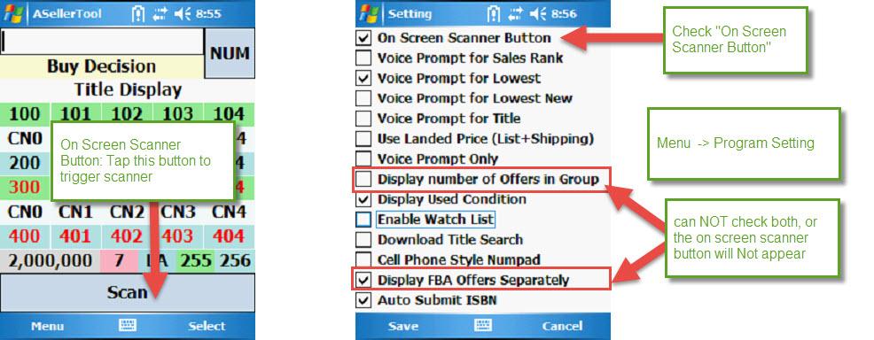 Program Setting Screen - ASellerTool Solutions User Guide - 1