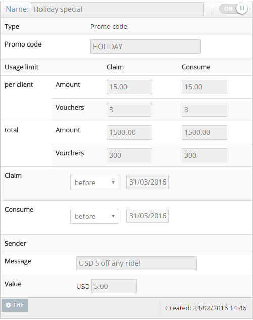 Create Promo Codes And Vouchers Admin Panel Legacy